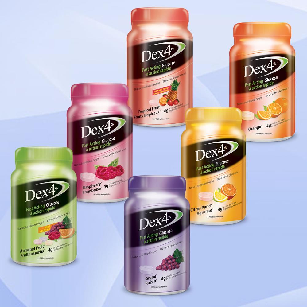 Dex4 Glucose Tablets - Bottles