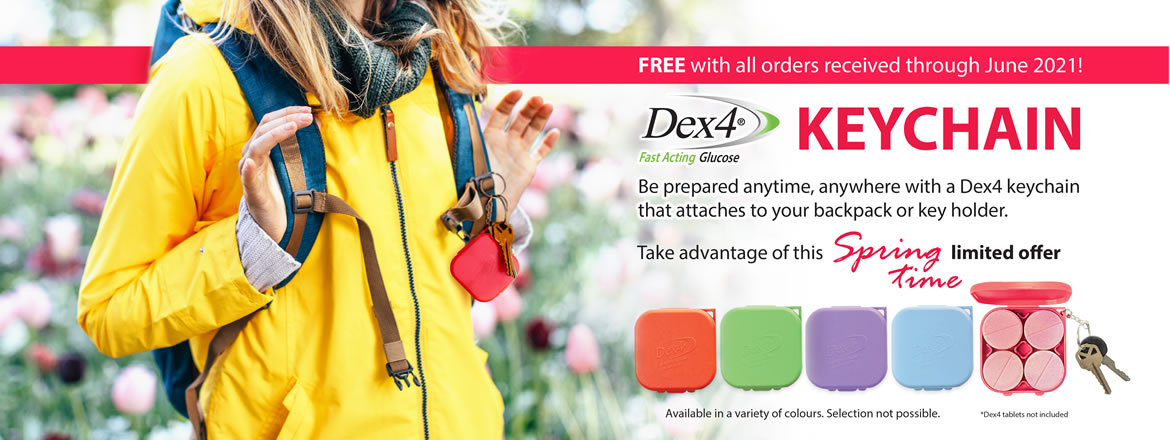 Free Keychain when you order Dex4 products