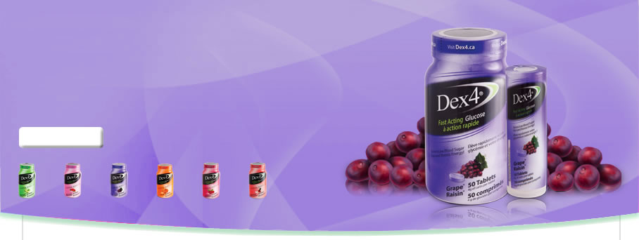 Fast Acting Glucose Grape Tablets by Dex4