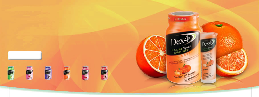 Fast Acting Glucose Orange Tablets by Dex4