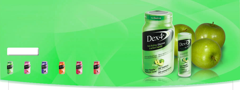 Fast Acting Sour Apple Glucose Tablets by Dex4