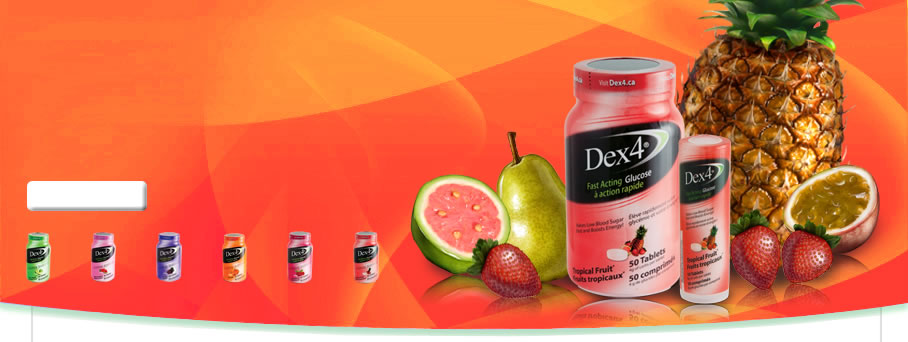 Fast Acting Glucose Tropical Fruit Tablets by Dex4